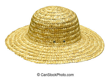 straw hat on white