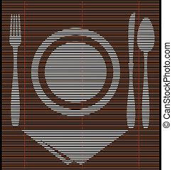 straw mat dinner
