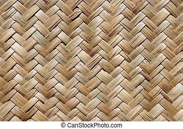 Straw mat texture.