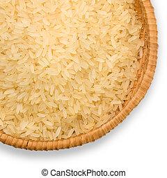 plate of long grain rice