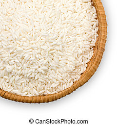 plate of white rice