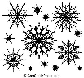 Straw Stars Silhouettes