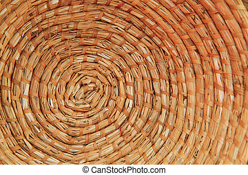 Archery round coiled straw target background  Closeup for