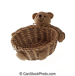 Straw Bear Photo Of The Bear Made Of Straw Isolated On A