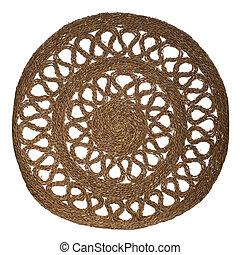 straw woven mat