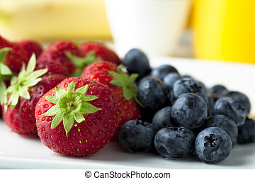 Strawberries and Blueberries for Breakfast