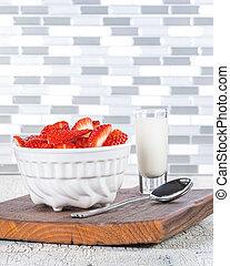Strawberries and Cream Portrait