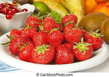 Strawberries and other fruits