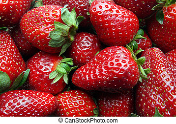 Strawberries - Closeup of a number of jucy strawberries
