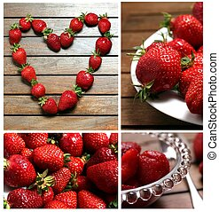 strawberries collage 2