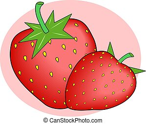 Strawberries design.