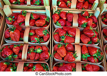 strawberries for sale at a market