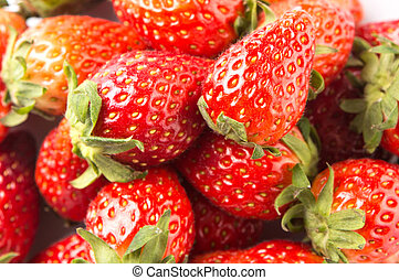 Strawberries Fruits - Strawberries over white background