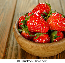 Strawberries in a bowl