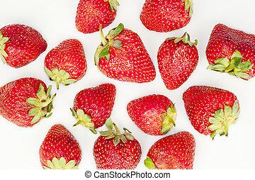 Strawberries in bed of milk - Strawberries in bed of yogurt