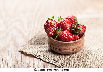 strawberries in the bowl of