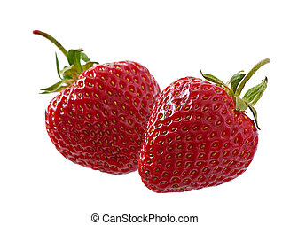 Strawberries isolated on white background.