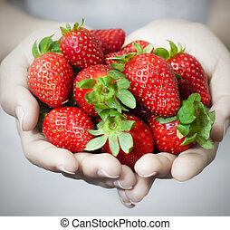 Strawberries - Many strawberries on hand, focus on ...