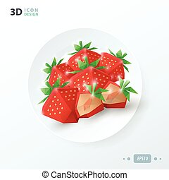 strawberries on dish