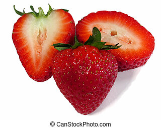 Strawberries - This is a composition of a strawberry and a...