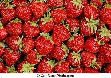 Strawberries macro