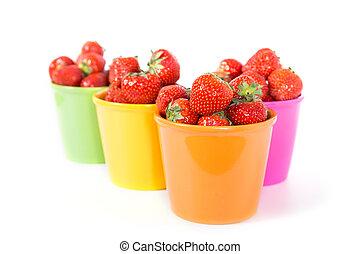 Strawberries - Fresh juicy aroma strawberries on wooden...
