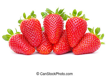 strawberries - Beautiful strawberries isolated on white
