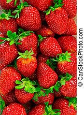 Strawberries background