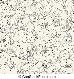 Strawberries seamless pattern.