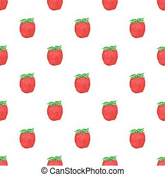 Strawberries. Seamless pattern with berries. Hand-drawn background. Vector illustration.