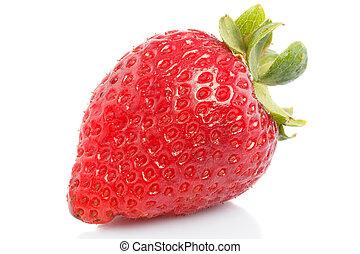 strawberries - Natural fresh strawberries on a white...
