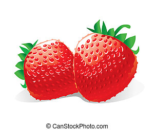 Strawberries (vector)