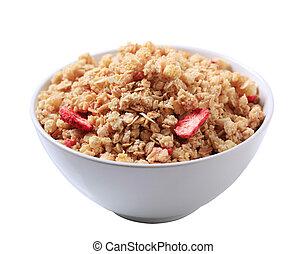 Strawberry almond granola cereal