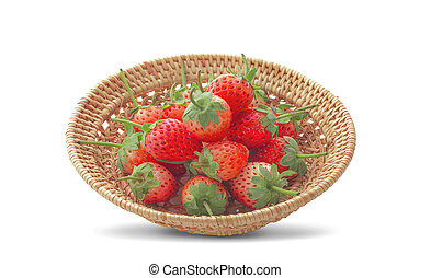 Strawberry an isolated on white background. Clipping Path