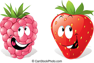 strawberry and raspberry
