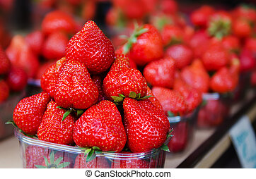 Strawberry at market