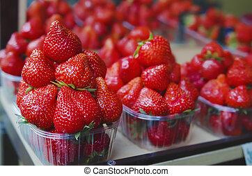 Strawberry at market