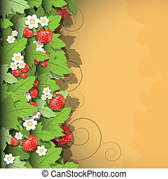 strawberry background - floral background with red flowers ...