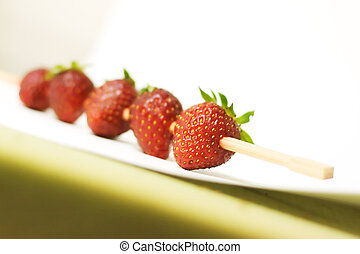 Strawberry barbecue background