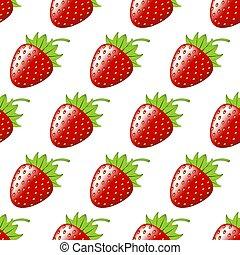 Strawberry Berry seamless pattern
