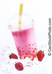 Strawberry Boba Tea