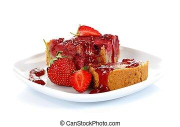 Strawberry cake with jam