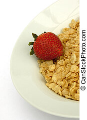 Strawberry Cereal - Breakfast Cereal with a Strawberry