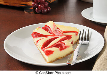 Strawberry cheesecake - Gourmet strawberry cheesecake slices...