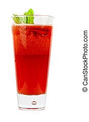 strawberry cold tea