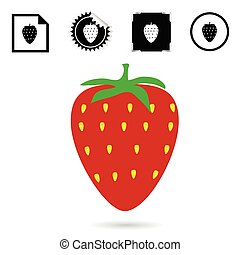 strawberry color red vector