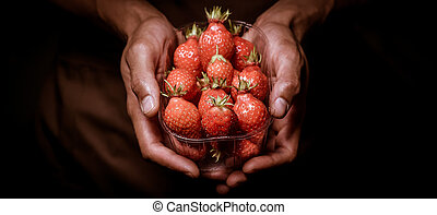 Strawberry Cupcake in hands