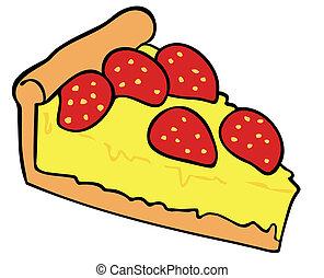 Strawberry custard tart.