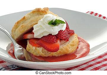 Strawberry Dessert - Dessert made with fresh picked...