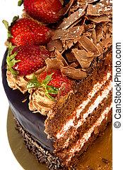 Strawberry Dessert - Strawberry Chocolate Layer Cake